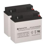 2 Black&Decker 242606 12V 22AH Lawn Mower Batteries