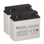 2 Black&Decker 244509-00 12V 22AH Lawn Mower Batteries