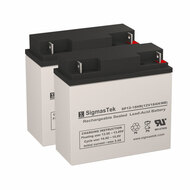 2 Ryobi Mower 181626 12V 18AH Lawn Mower Batteries
