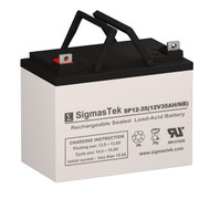White T85 12V 35AH Lawn Mower Battery