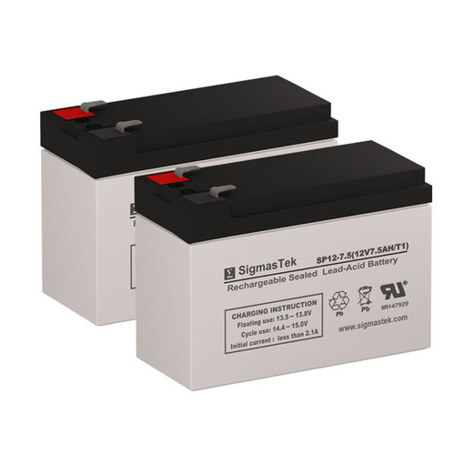 2 Altronix SMP10PM12P8CB 12V 7AH Alarm Batteries