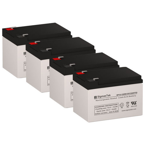 4 Altronix MAXIM33D 12V 12AH Alarm Batteries