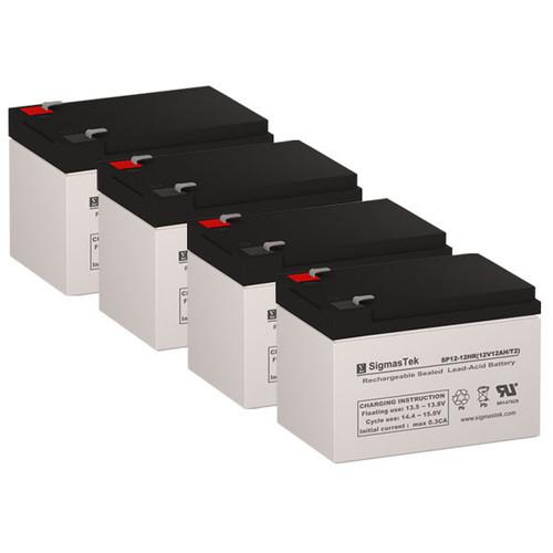 4 Altronix MAXIM75 12V 12AH Alarm Batteries