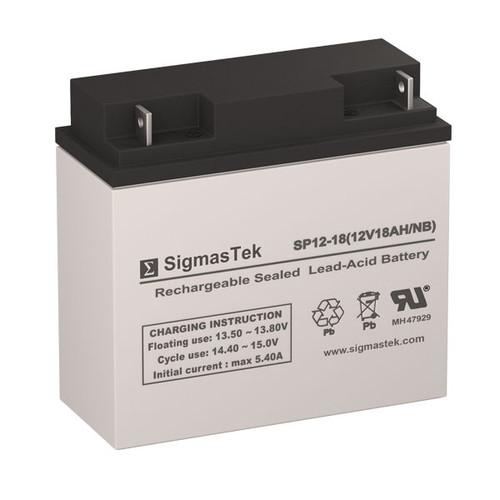 ADT Security 476746 12V 18AH Alarm Battery