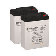 2 ADT Security 4520608 6V 8.5AH Alarm Batteries