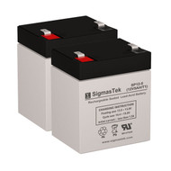 2 Potter Electric PFC-3002 12V 5AH Alarm Batteries