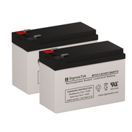 2 Potter Electric PFC-7500 12V 7AH Alarm Batteries