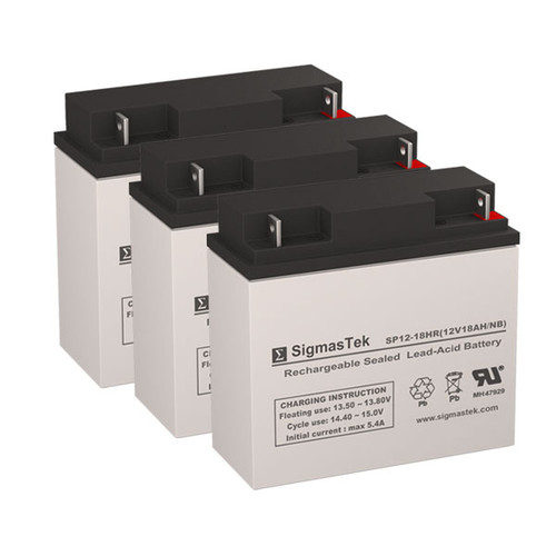 3 Alpha Technologies AS 1000 12V 18AH UPS Replacement Batteries
