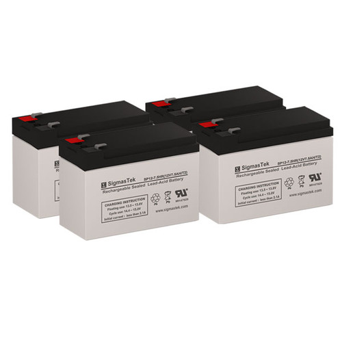 4 Alpha Technologies ALI Elite 1000XL-RM 12V 7.5AH UPS Replacement Batteries