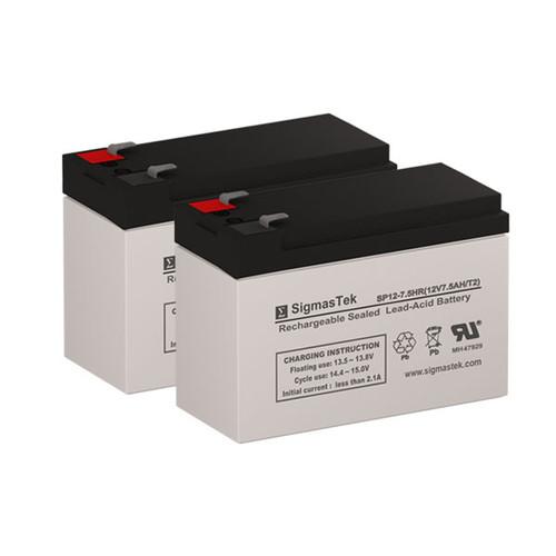 2 Alpha Technologies ALI Elite 700RM 12V 7.5AH UPS Replacement Batteries