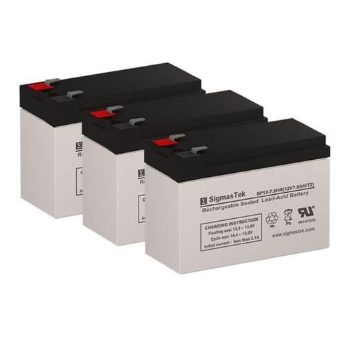 3 Alpha Technologies ALI Plus 1500 Rack Mount 12V 7.5AH UPS Replacement Batteries