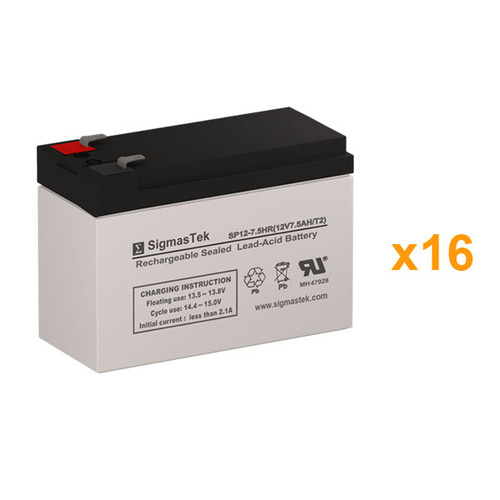 16 Alpha Technologies ALI Plus BP 700-1000/16 Multi Mount 12V 7.5AH UPS Replacement Batteries