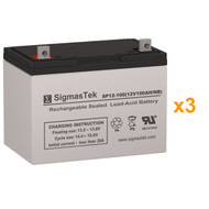 3 Alpha Technologies AS 3100-36 12V 100AH UPS Replacement Batteries