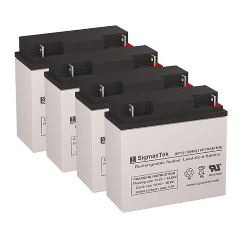 4 Alpha Technologies CFR 2500E (017-074-XX) 12V 18AH UPS Replacement Batteries