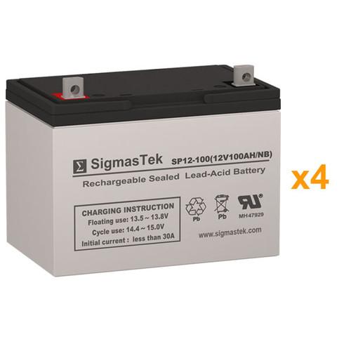 4 Alpha Technologies CFR 3000NT 12V 100AH UPS Replacement Batteries