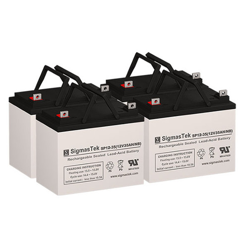 4 Alpha Technologies CFR 4000 12V 35AH UPS Replacement Batteries