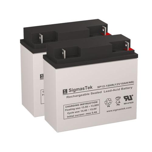 2 Alpha Technologies CFR 600 12V 18AH UPS Replacement Batteries