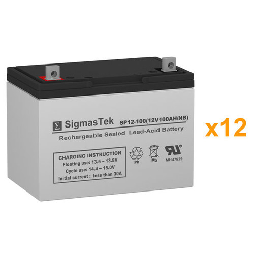 12 Alpha Technologies EBP 1275-48B (032-045-XX) 12V 100AH UPS Replacement Batteries