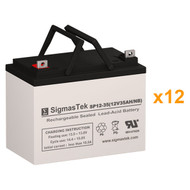 12 Alpha Technologies EBP 144A (032-035-XX) 12V 35AH UPS Replacement Batteries
