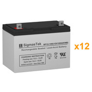 12 Alpha Technologies EBP 144E (032-059-XX) 12V 100AH UPS Replacement Batteries