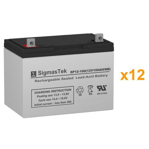 12 Alpha Technologies EBP 144E (032-059-XX) 12V 100AH UPS Replacement Batteries