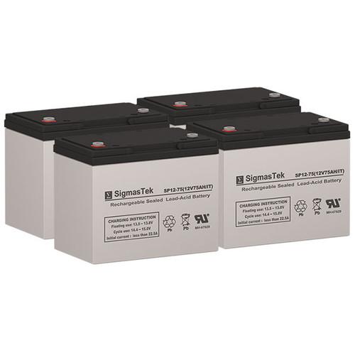 4 Alpha Technologies EBP 24E 12V 75AH UPS Replacement Batteries