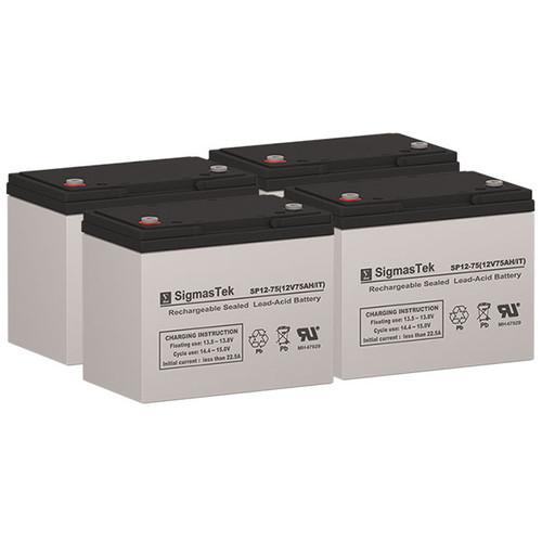4 Alpha Technologies EBP 24EC 12V 75AH UPS Replacement Batteries