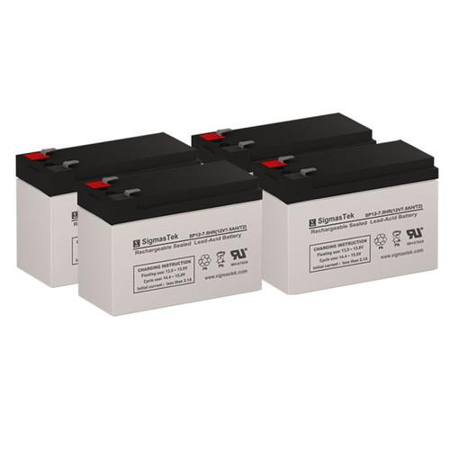 4 Alpha Technologies Nexsys 1250 12V 7.5AH UPS Replacement Batteries