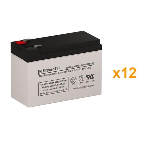 12 Alpha Technologies PINBP 1500RM 12V 7.5AH UPS Replacement Batteries