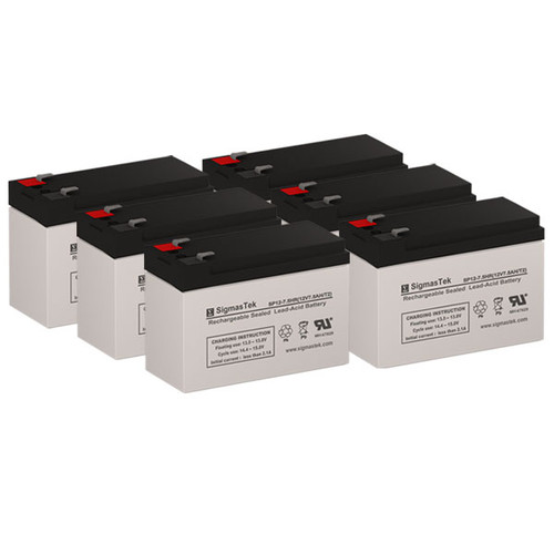 6 Alpha Technologies Pinnacle Plus 2000T 12V 7.5AH UPS Replacement Batteries