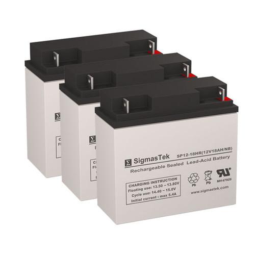 3 Alpha Technologies UPS 1000 12V 18AH UPS Replacement Batteries