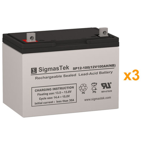 3 Alpha Technologies BP 3100-36 CABINET 12V 100AH UPS Replacement Batteries