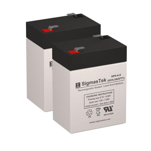 2 APC AP200 6V 4.5AH UPS Replacement Batteries