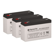 3 APC AP250 6V 12AH UPS Replacement Batteries