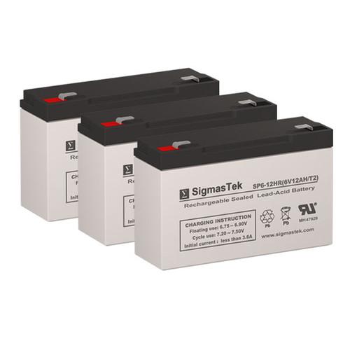 3 APC AP250 6V 12AH UPS Replacement Batteries