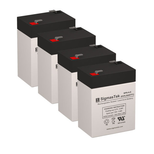 4 APC AP400 6V 4.5AH UPS Replacement Batteries