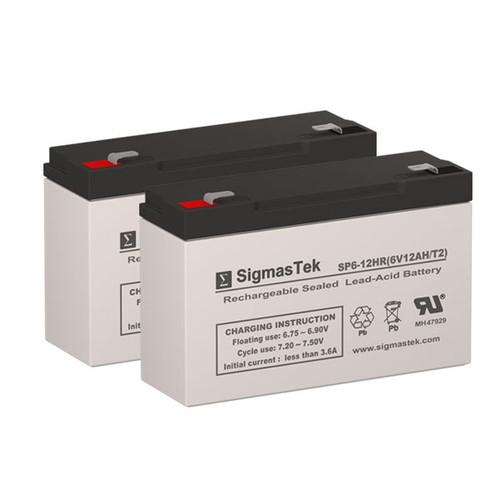 2 APC AP520 6V 12AH UPS Replacement Batteries