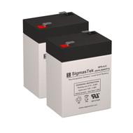 2 APC BACKUPS BK1250B 6V 4.5AH UPS Replacement Batteries