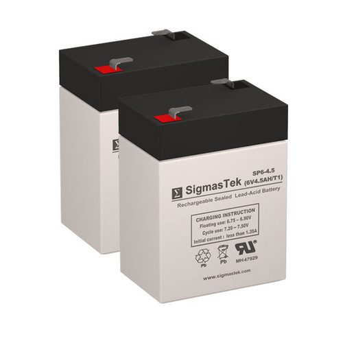 2 APC BACKUPS BK200 6V 4.5AH UPS Replacement Batteries