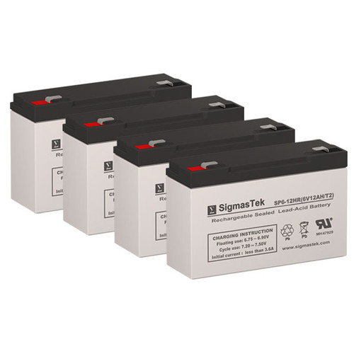 4 APC BACKUPS BK800 6V 12AH UPS Replacement Batteries