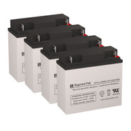 4 APC SMART-UPS XL SUA2200XL-NETPKG 12V 18AH UPS Replacement Batteries