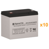 10 Best Technologies FERRUPS FD 12.5KVA 12V 75AH UPS Replacement Batteries