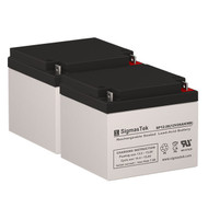 2 Elgar IPS560 12V 26AH UPS Replacement Batteries