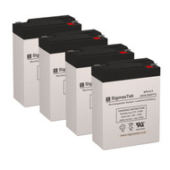 4 Elgar SPR401 6V 8.5AH UPS Replacement Batteries