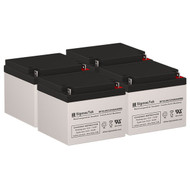 4 Safe BP48 12V 26AH UPS Replacement Batteries