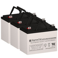 3 Topaz 83186-03 12V 35AH UPS Replacement Batteries