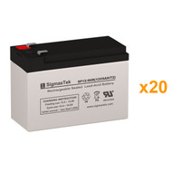 20 Tripp Lite SU30K3/3X 12V 9AH UPS Replacement Batteries