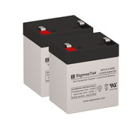 2 Unison PS4.5N 12V 5.5AH UPS Replacement Batteries