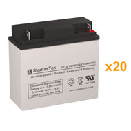 20 PowerWare PRESTIGE 6000 Extended Battery Pack 12V 18AH UPS Replacement Batteries