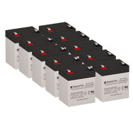 10 PowerWare PRESTIGE Full Pack 12V 5.5AH UPS Replacement Batteries